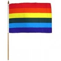 02426 RAINBOW HAND FLAG