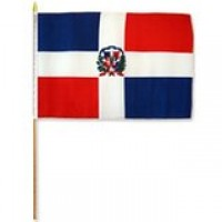 02422 DOMINICAN HAND FLAG