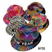 02187/NY35,NEW YEAR LIGHT UP HAT