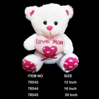 "12"" WHITE TEDDY BEAR 78543"