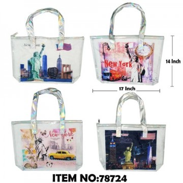 NEW YORK CLEAR SHOPPING BAG 78724